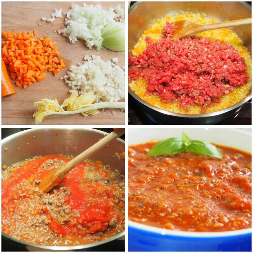 Ñoquis con salsa boloñesa - Paso 1