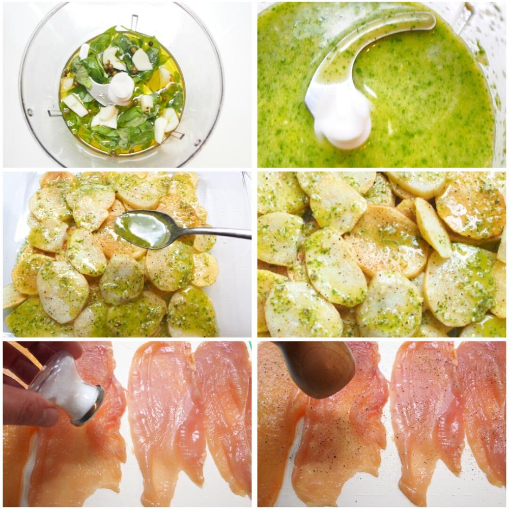Pollo al horno con limon y patatas for Pechugas de pollo al horno con patatas