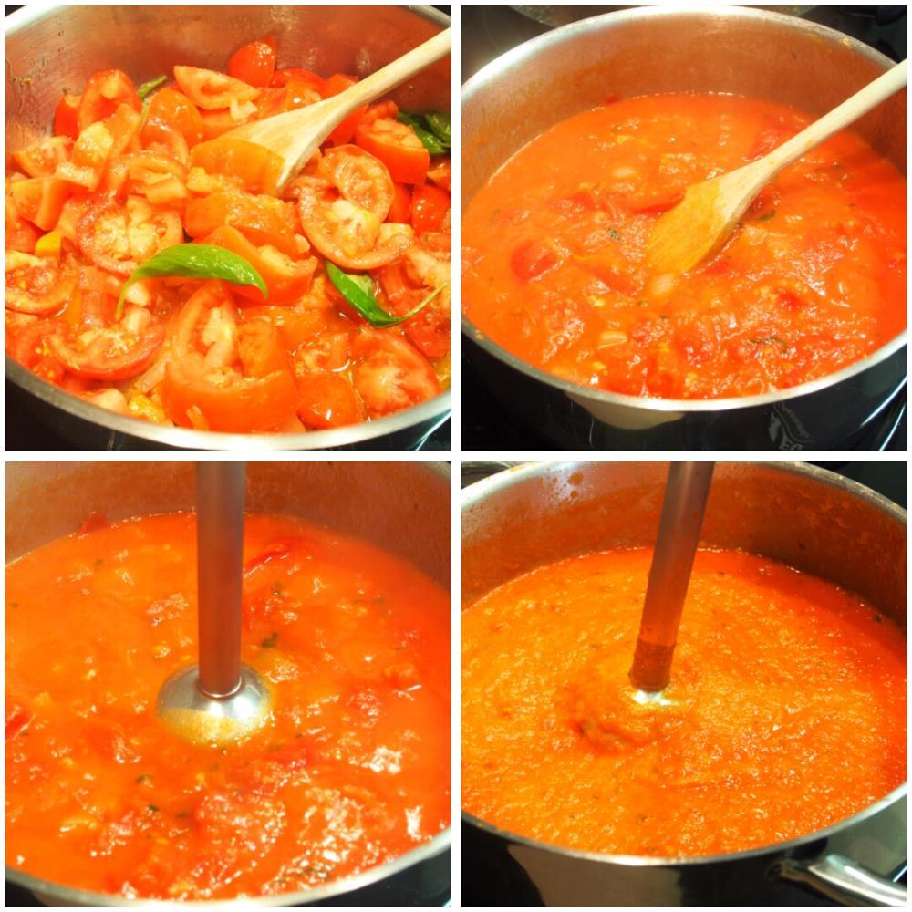 Salsa de tomate casera - Paso 3