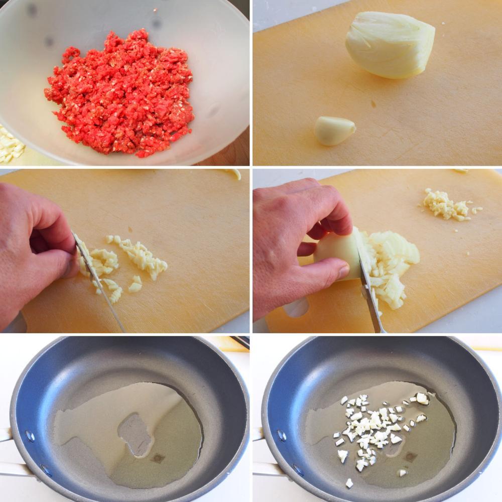Albóndigas de carne - Paso 1