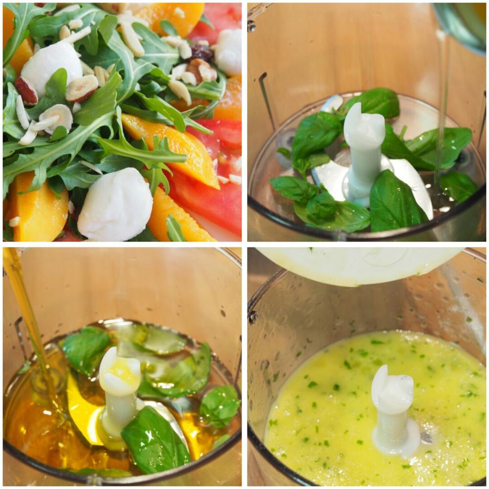 Ensalada de melocotón con rúcula y mozzarella - Paso 2