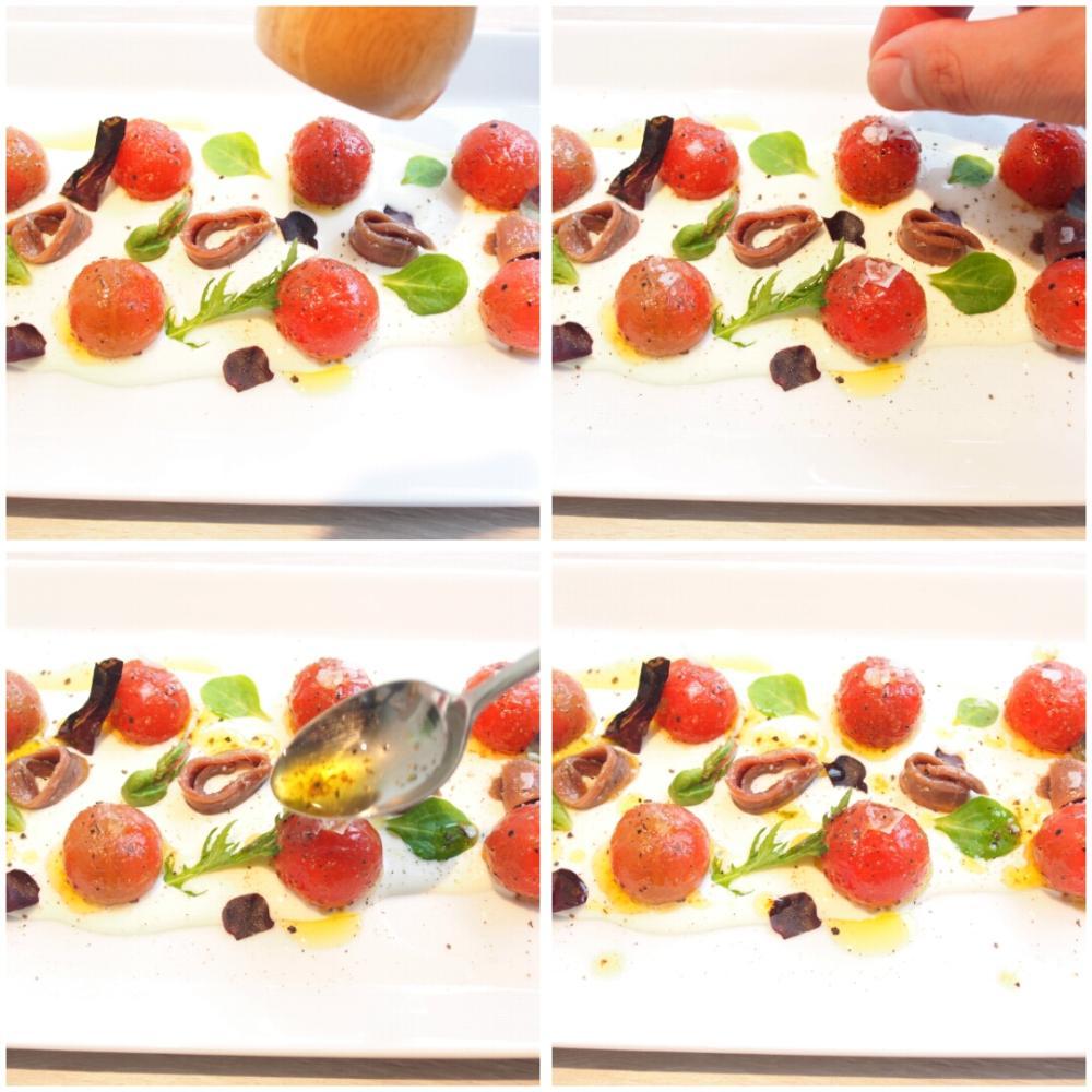 Tomates con anchoas y queso - Paso 4