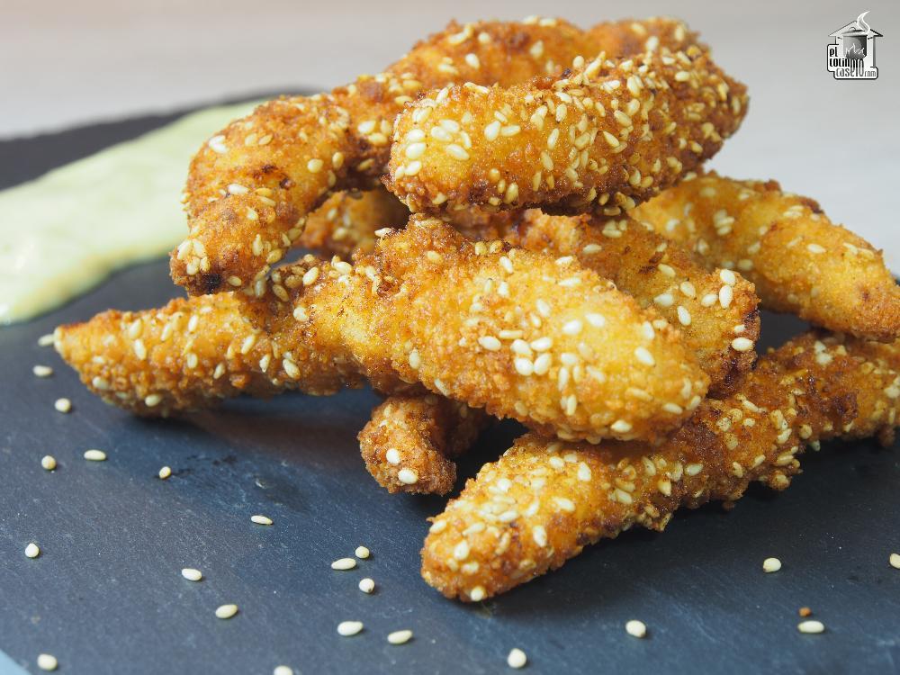 Fingers de pollo marinado