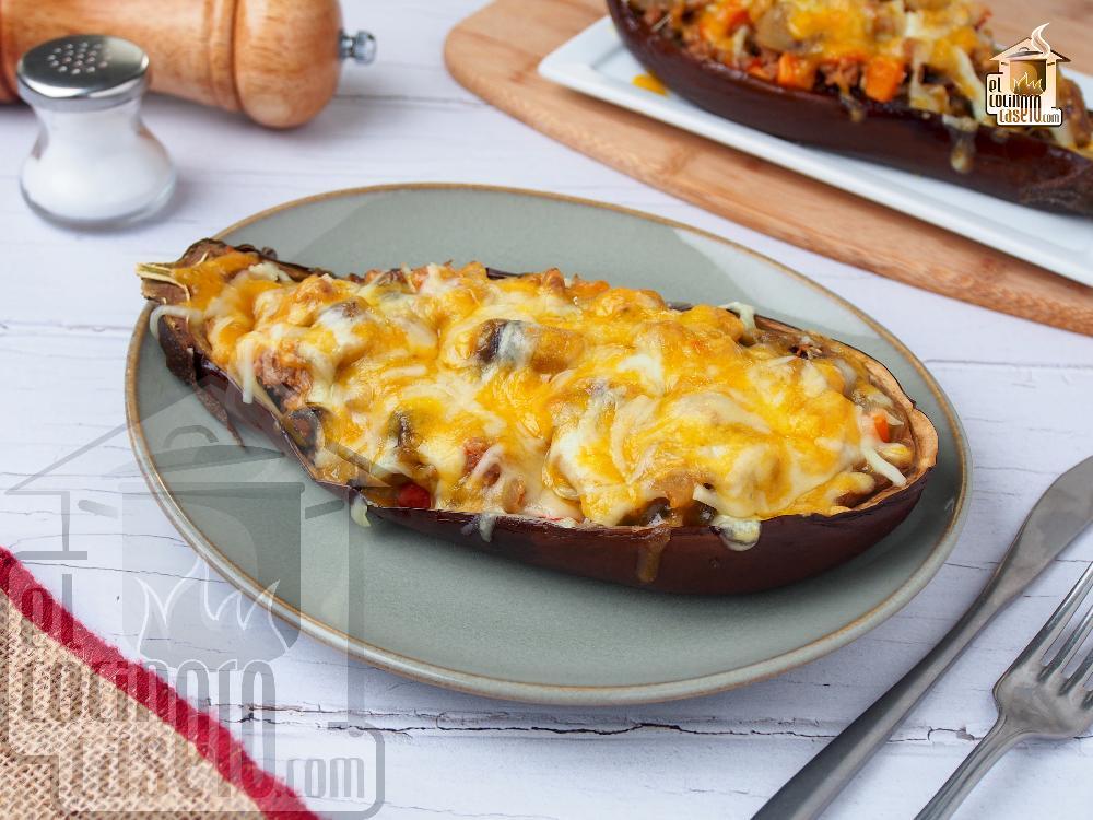 Berenjenas rellenas de carne picada el cocinero casero carnes - Que cocinar con carne picada ...