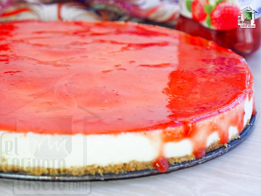 Tarta de queso fria sin gelatina