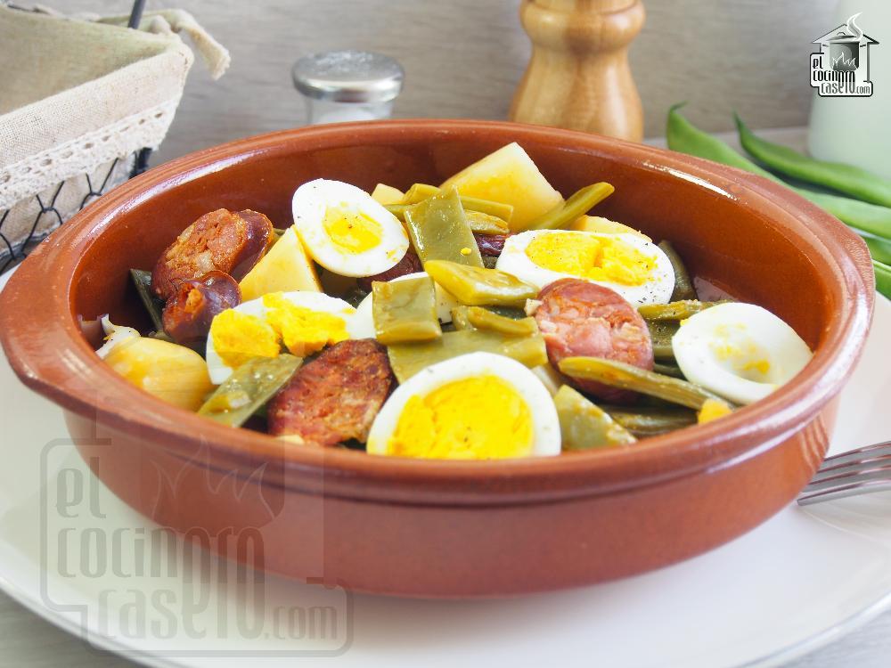 Judias verdes con chorizo el cocinero casero carnes - Judias con chorizo y patatas ...