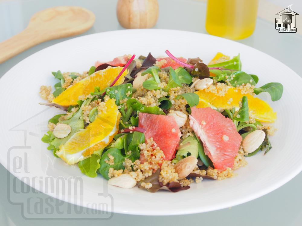 Ensalada de quinoa y cítricos