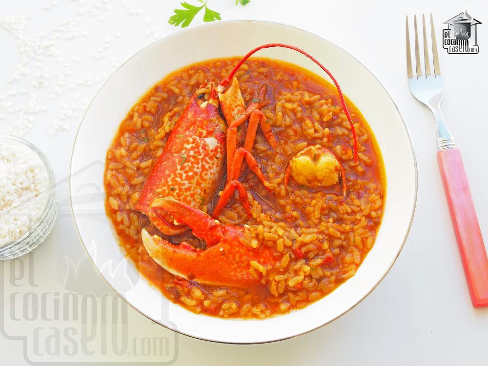 arroz caldoso con bogavante y gambas thermomix