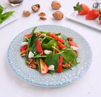 Ensalada de espinacas y fresas