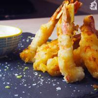Langostinos en tempura con mayonesa de lima