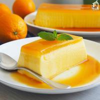 Pastel frío de naranja