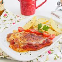 Milanesa napolitana de pollo