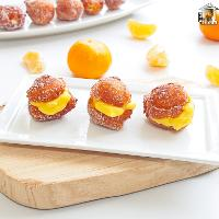 Buñuelos rellenos de crema de mandarina