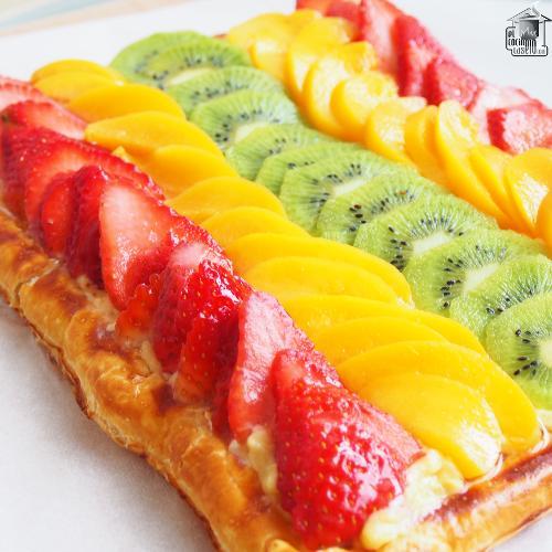 Hojaldre de frutas con crema pastelera