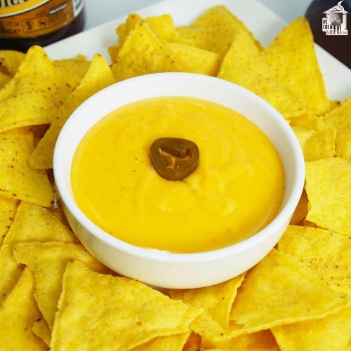 Salsa de queso Cheddar
