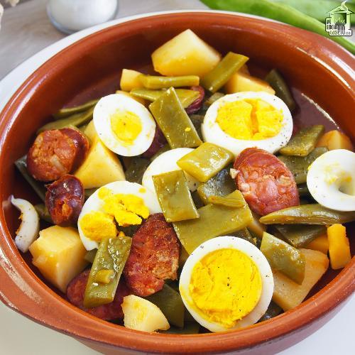 Recetas con la etiqueta judias verdes con chorizo y - Judias con chorizo y patatas ...
