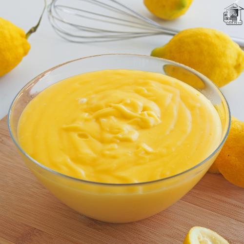 Crema pastelera de limón