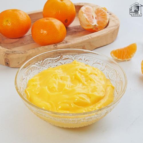 Crema pastelera de mandarina